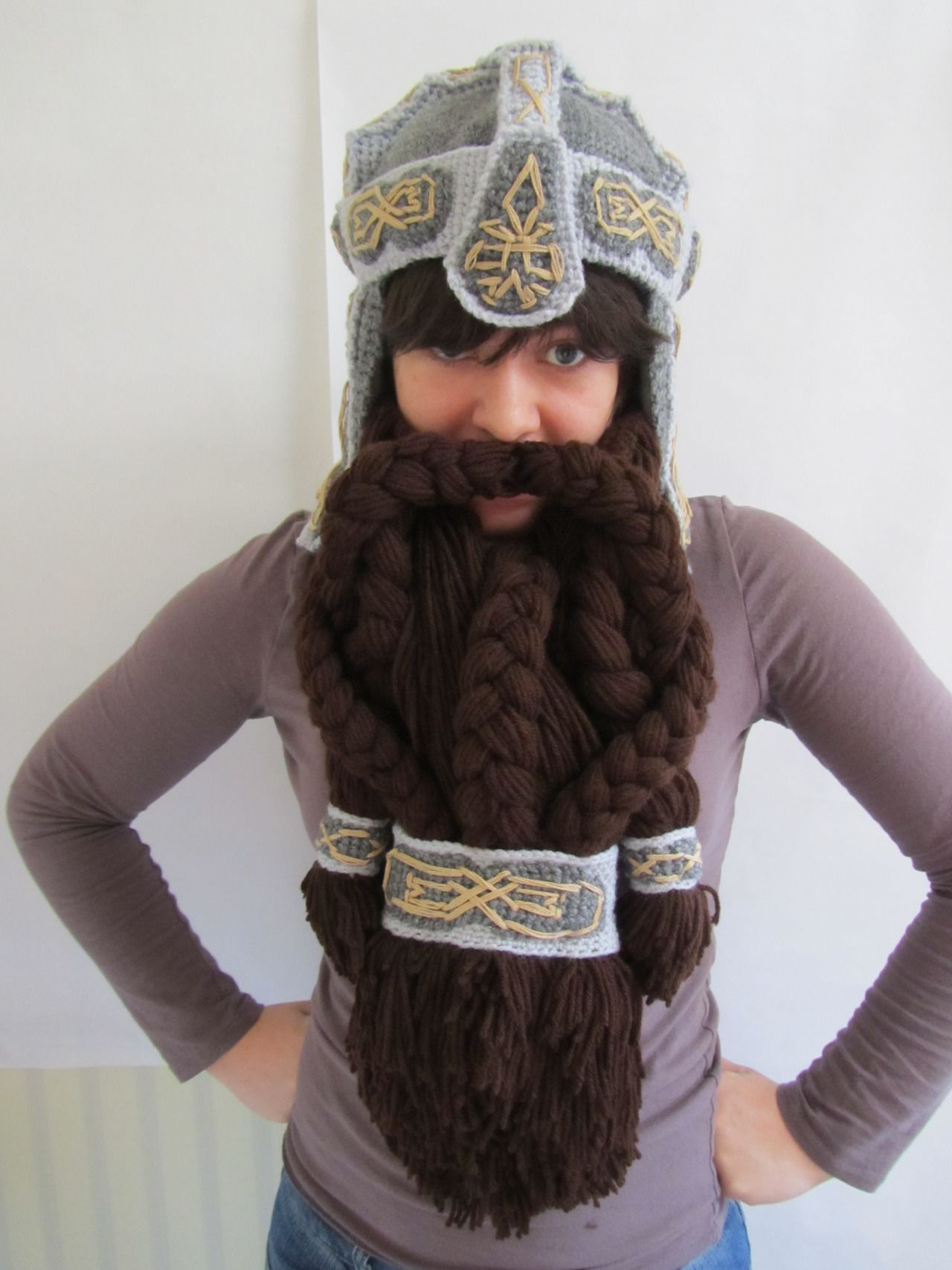 9d1b0a7585d Dwarf Beard and hat made with yard. Gimli LOTR