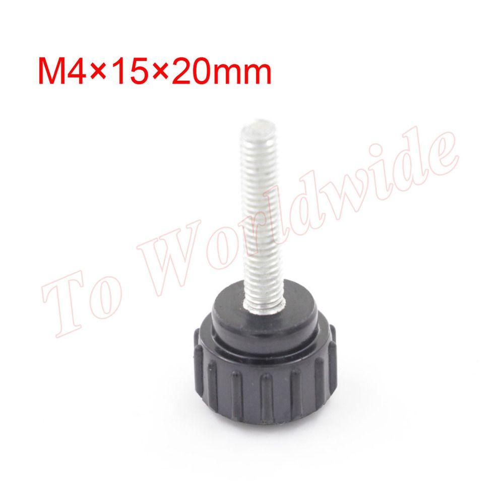 M4 15mm x 20mm Knurled Knob Black 4mm Thread Dia On Type Knurled Grip Knobs  EUR 7.20  Meer informatie  http://bit.ly/2cIoY3A #aliexpress