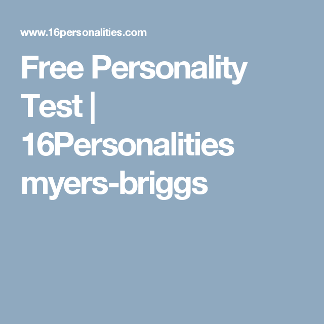 Personality test articles