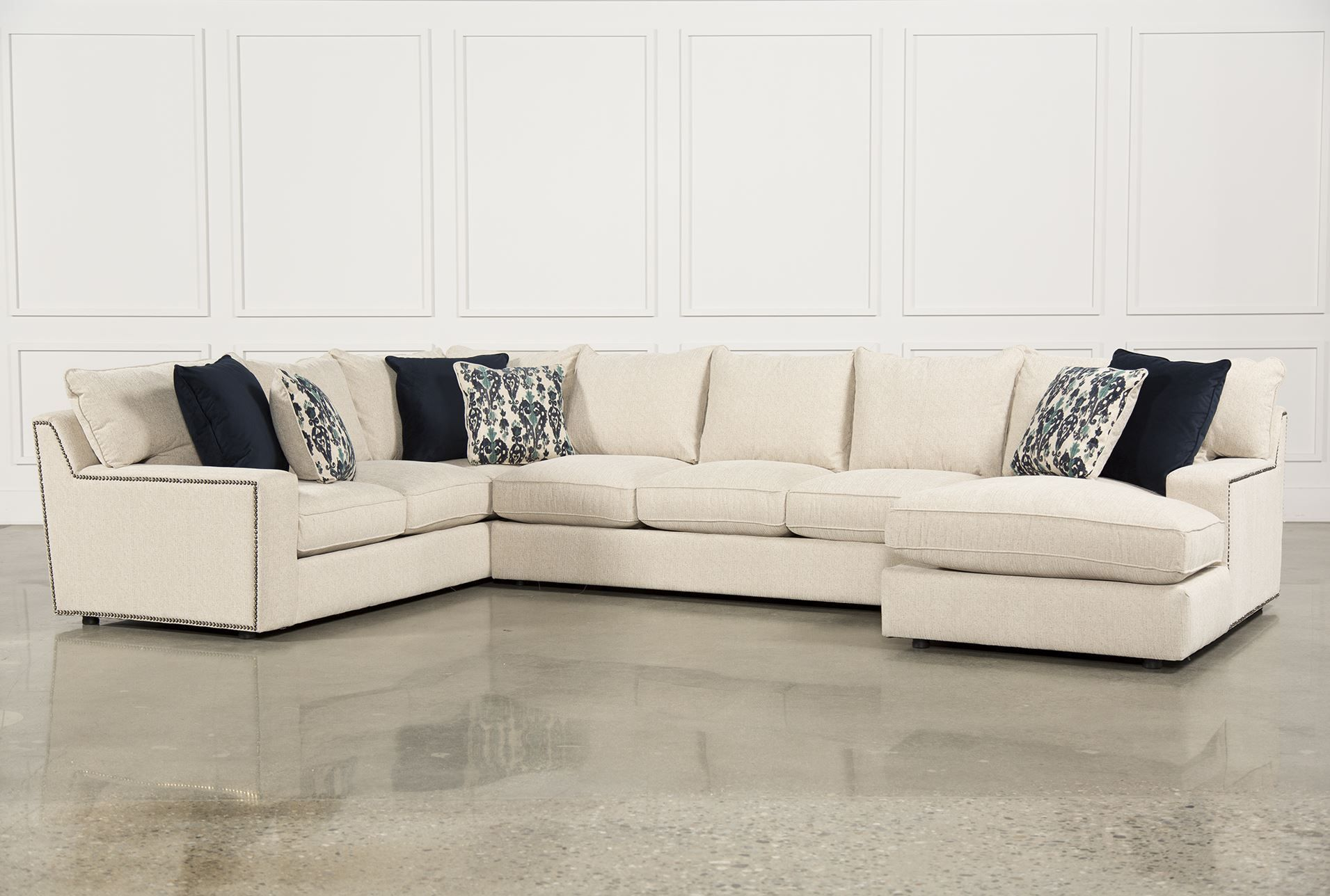 Rennell 3 Piece Sectional W/Raf Chaise, Sofas | Living rooms, Living ...