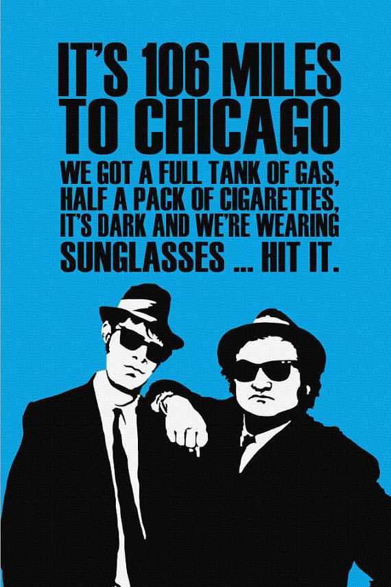 Blues Bros. Quote/Print on Canvas Quote prints, Blues