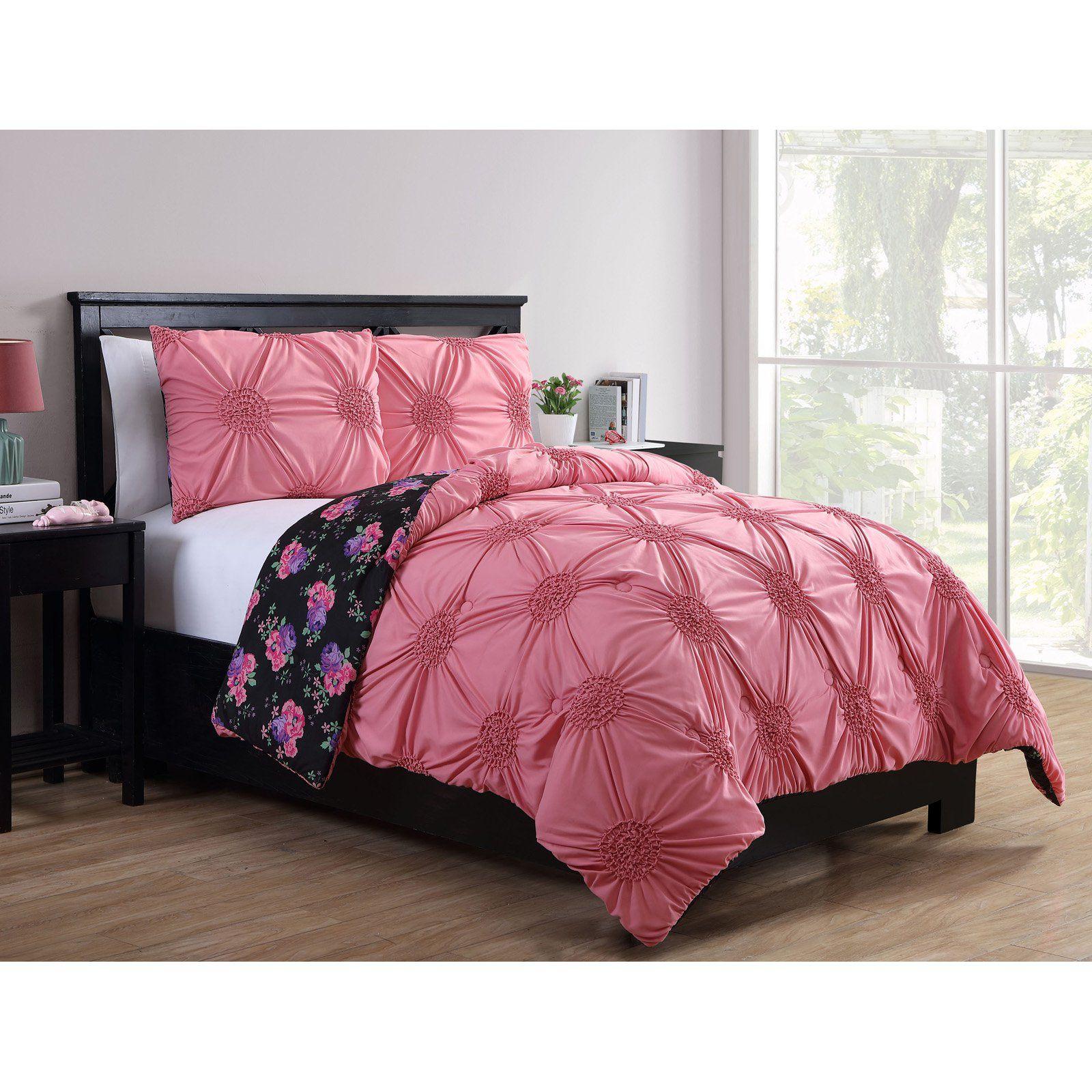 Dusty Rose Kids Reversible Comforter Set By Better Homes Gardens