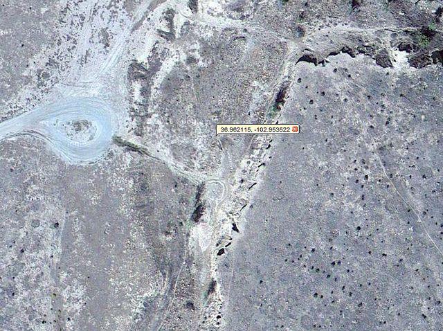 A close up of Google Maps shows the Dinosaur Quarry and ...