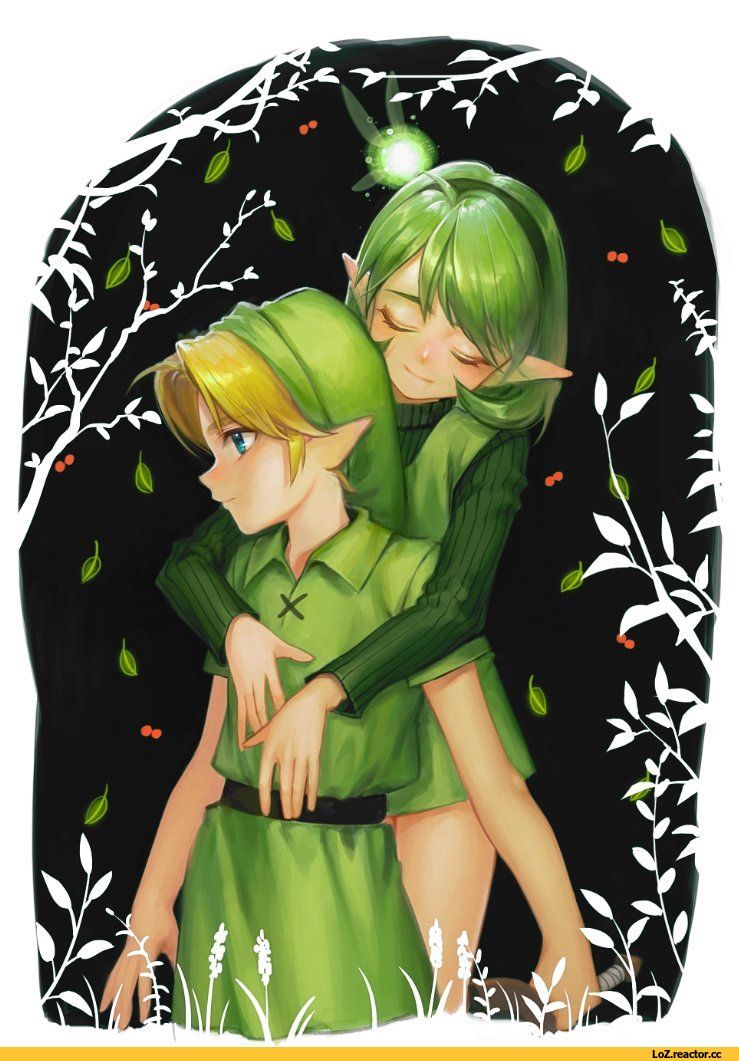 saria and link nintendo girls video games pictures