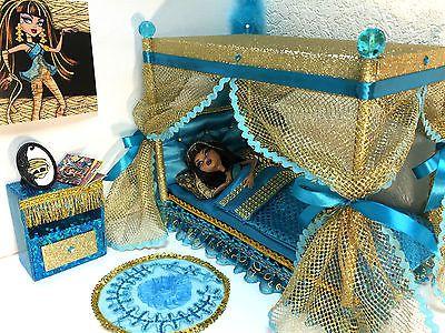 Pinkrosemh Bett Couch Moebel Fuer Barbie Puppenstube Monster Puppe 30cm High Cleo