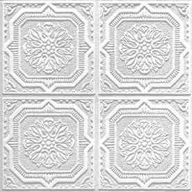 40 Pack Tin Look Wellington Homestyle Ceiling Tile Panel Common 12 In X 12 In Actual 11 985 In X 11 985 In Acoustic Ceiling Tiles Faux Tin Armstrong Ceiling