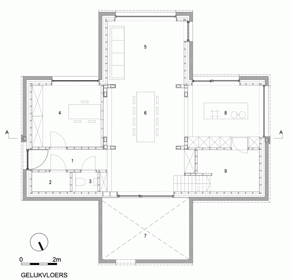 Gallery Of Dna House Blaf Architecten 7 Architecture Floor Plans 3dprinting Design