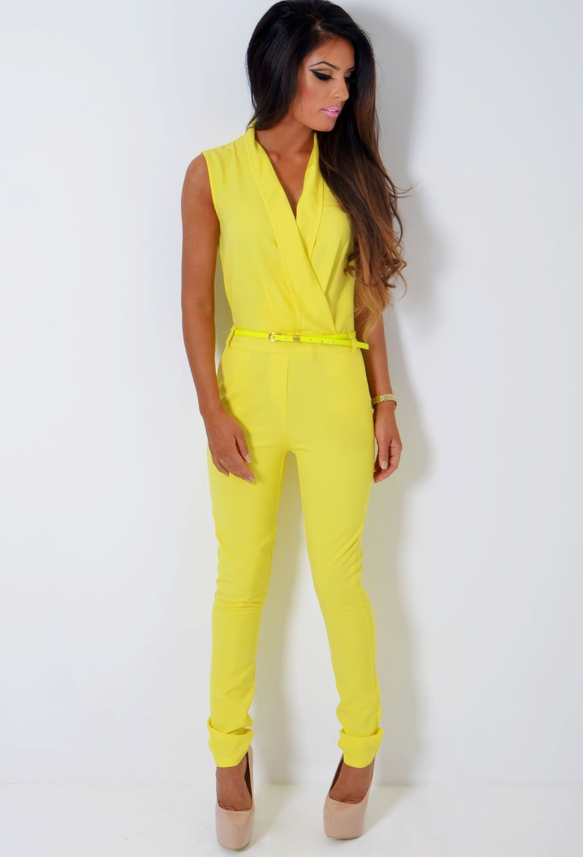 Neon Yellow Jumpsuit Breeze Clothing