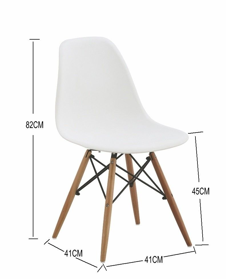Silla eames r plica en color blanco 39 medidas muebles for Muebles eames