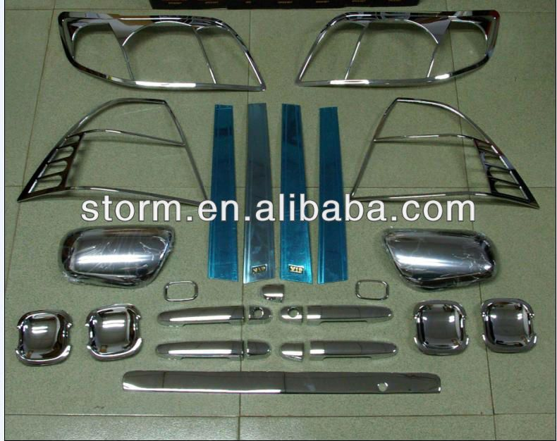 Sizzle chrome car Accessories full set for Toyota Corolla 2005 $10 ...