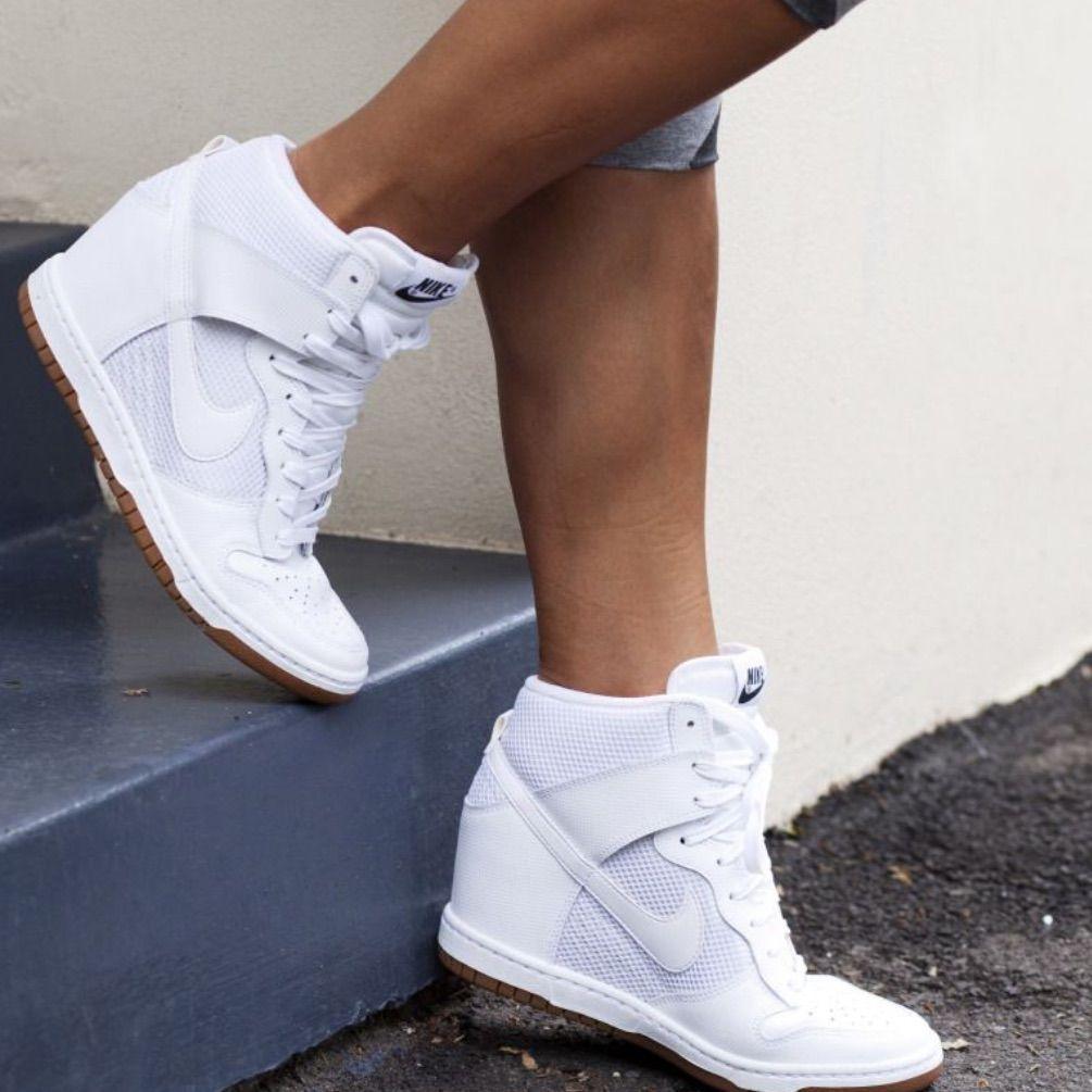 Nike Shoes  Nike Sky Hi Dunk Wedges White On White Size 6  Color White  Size 6