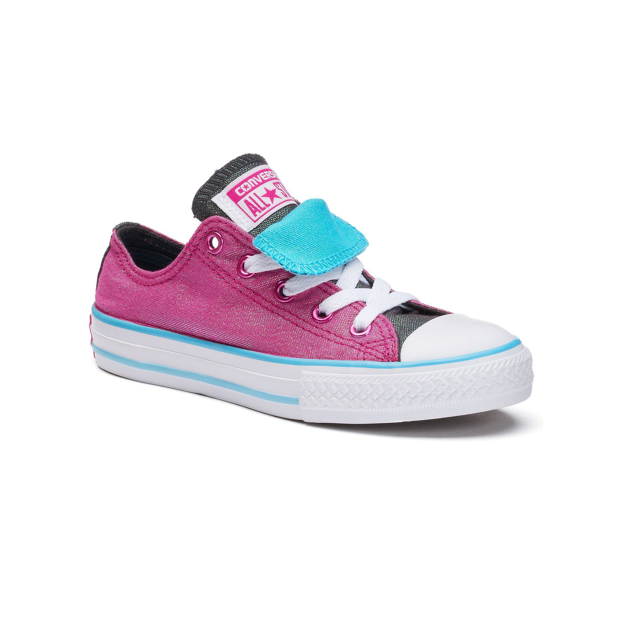 9fb2da1ba017 Kids  Converse Chuck Taylor All Star Shimmering Double-Tongue Shoes ...