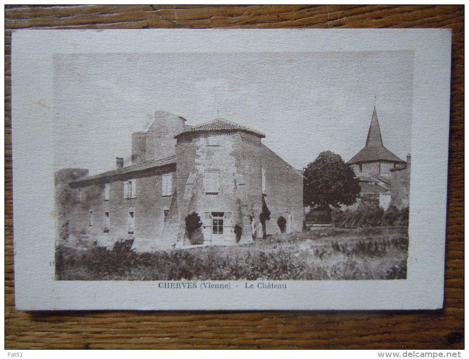 Frankreich - 86 - Cherves : Le Château