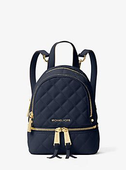 bd4751b3e80e Rhea Extra-Small Quilted-Leather Backpack by Michael Kors | Michael ...