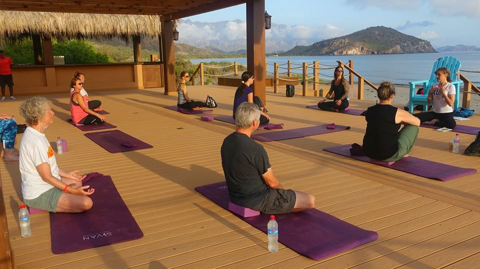 Getting ready for yoga with lissa coffey at villa del