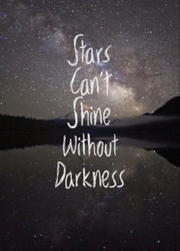 Marvelous Stars Cannot Shine Without Darkness | Quotes JA