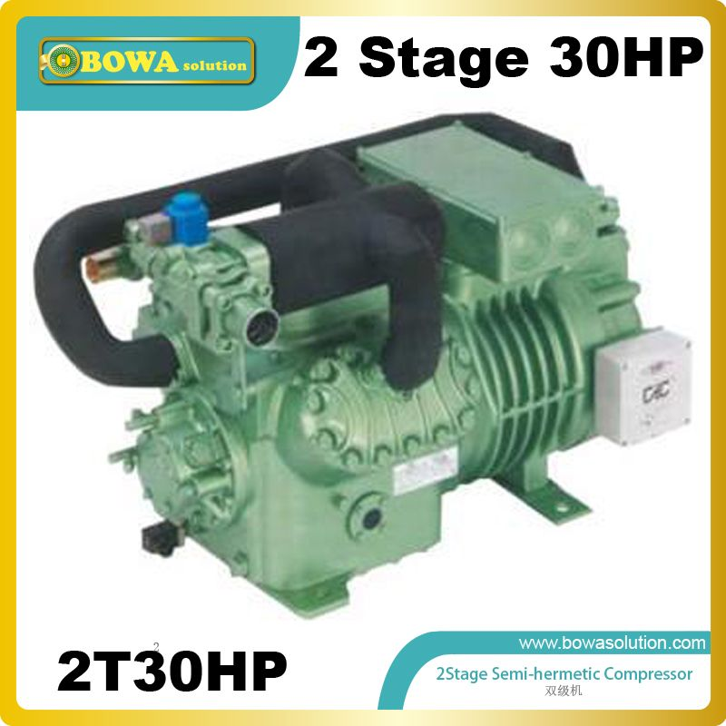 2stage R404a refrigeration compressor (30HP) installed in