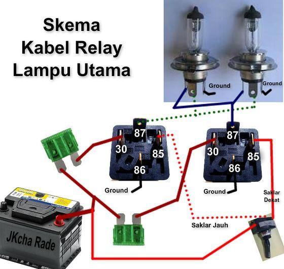 fungsi relay lampu mobil dan cara pemasangannya sakam autoservice rh pinterest com 12 Volt Relay Wiring Diagrams 5 Pin Relay Wiring Diagram