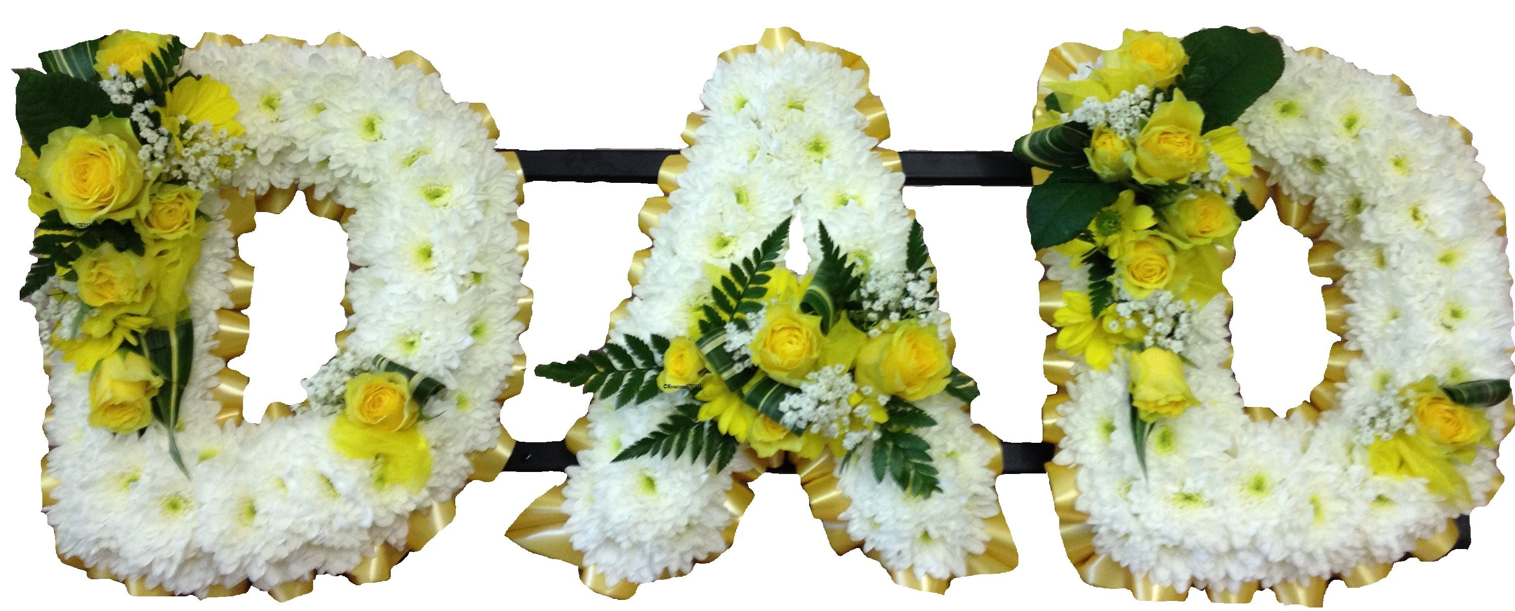 Image result for Images of Floral tributes for Dad