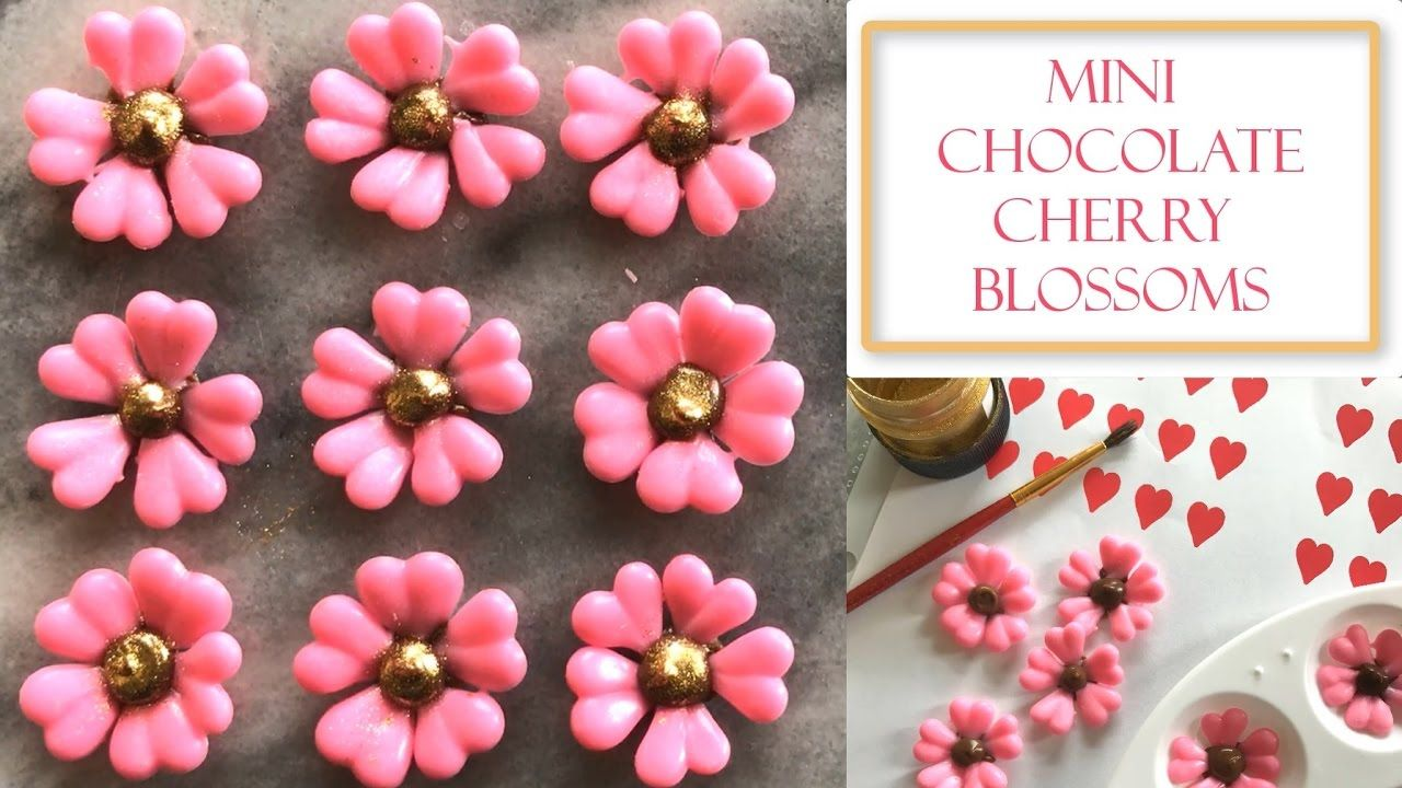 How To Make Mini Chocolate Cherry Blossom Flowers Simple Easy