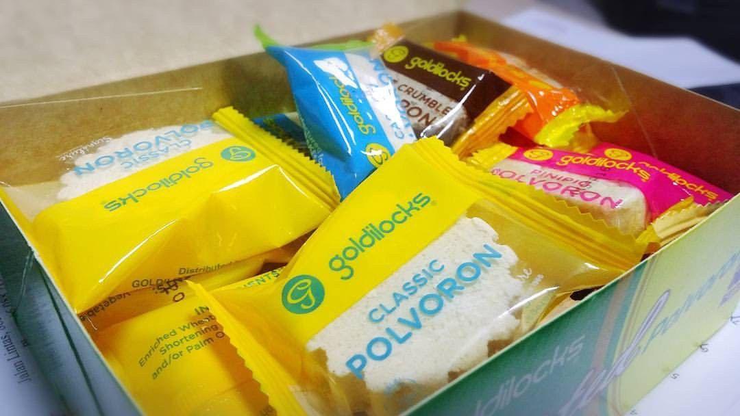 Goldilocks polvoron polvorones filipino snacks