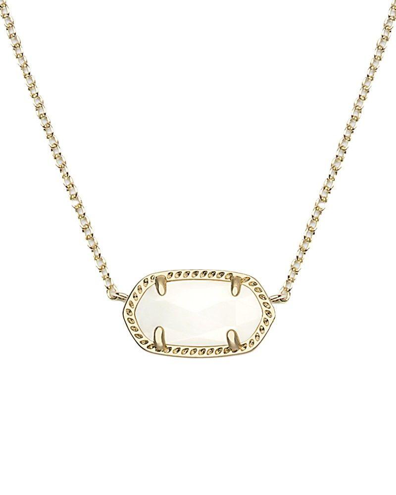 Elisa Pendant Necklace in White Pearl - Kendra Scott Jewelry