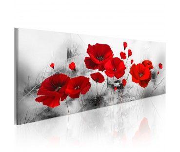Bild Auf Leinwand Mohnblumen Auf Graphit Acrylbilder Blumen Blumen Malen Blumen Wandbild