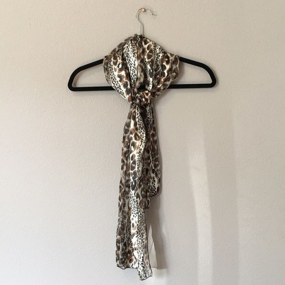 ⚜ Satin Scarf - Leopard Print BRAND NEW ⚜ NEVER WORN! ⚜ So soft! So Silky! A nice small size so it's not too bulky! looks great with a sweater dressed down or with evening clothes dressed up! ⚜ Add a scarf to any clothing item or shoes for only $3!!! Accessories Scarves & Wraps
