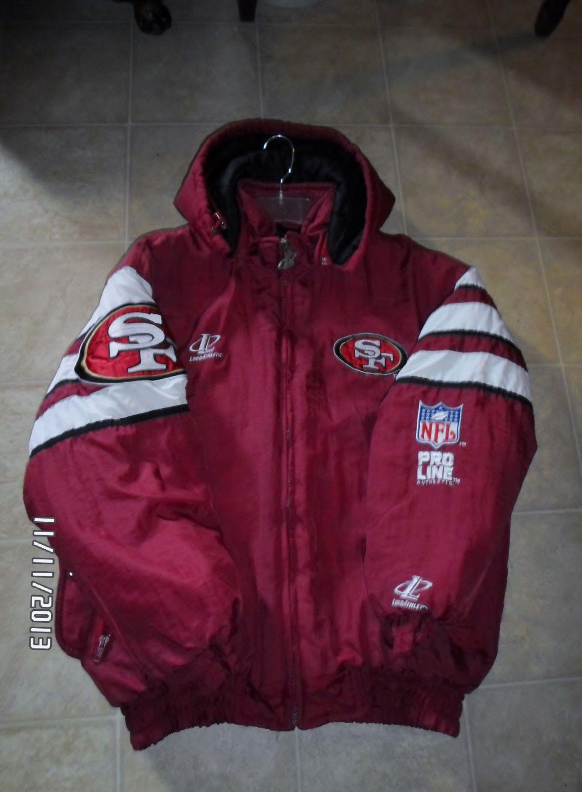 0e0a6f980 NR!!! Authentic NFL PRO LINE San Francisco 49ers jacket size LARGE ...