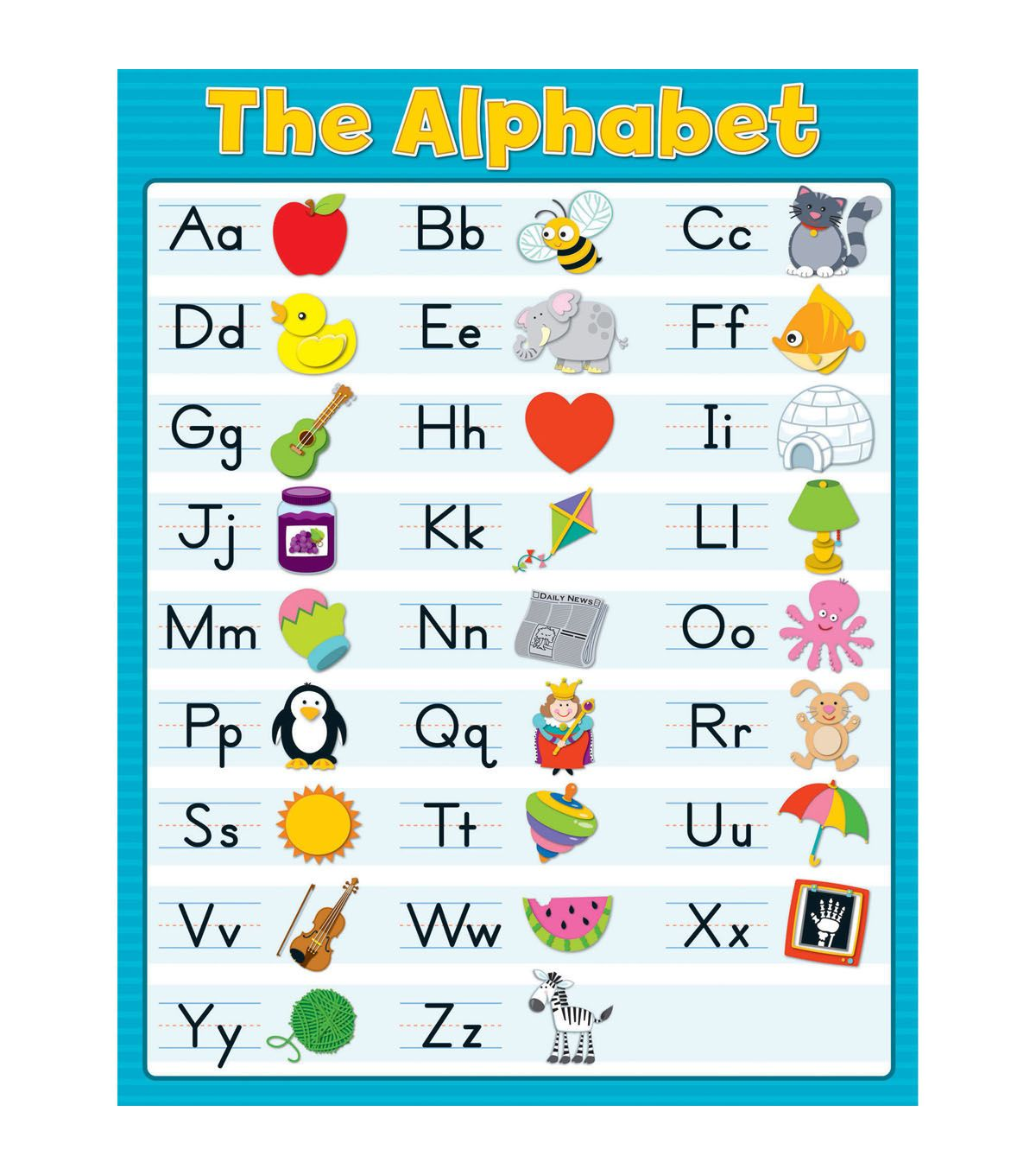 Carson Dellosa The Alphabet Blue Chart 6pk In