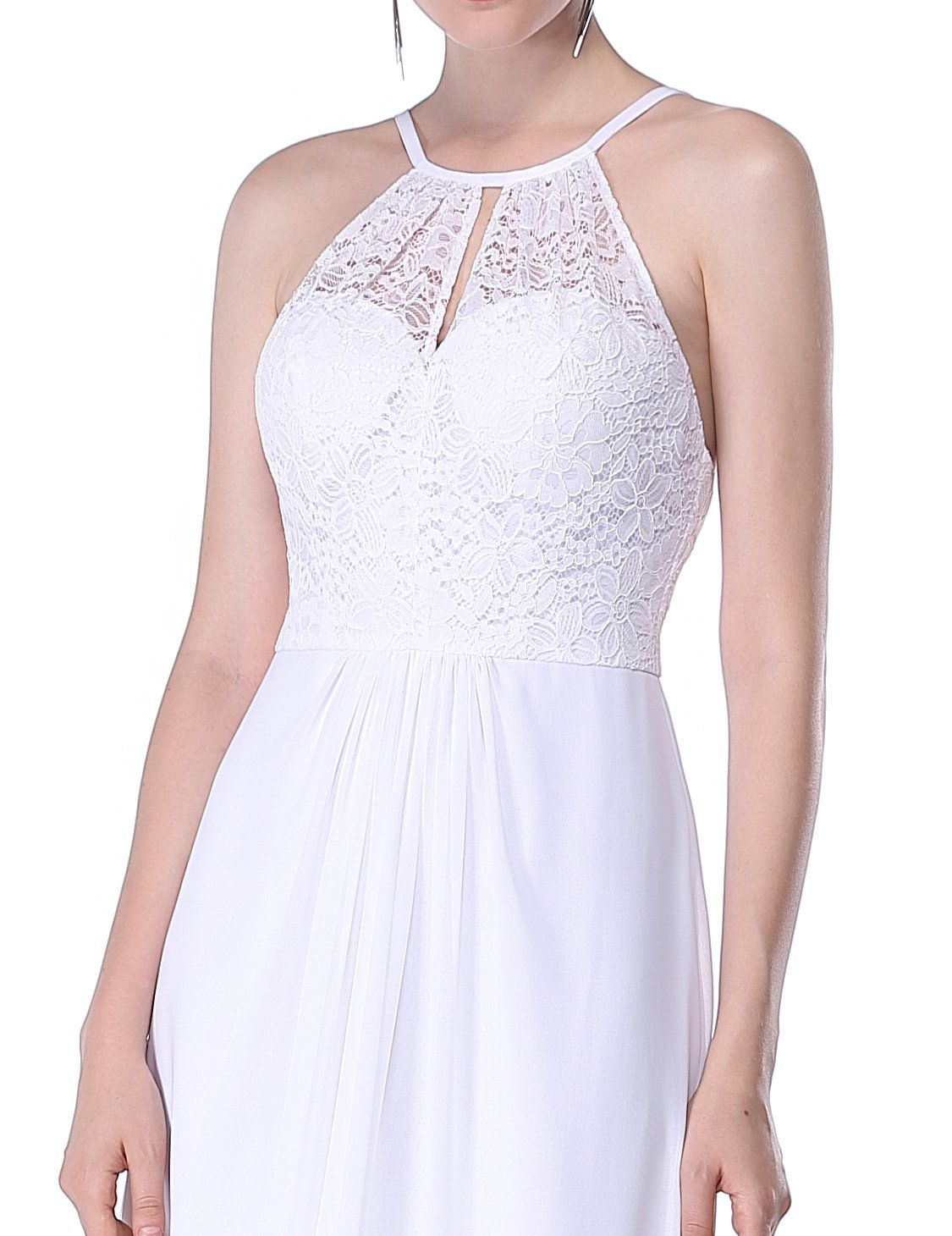 Everpretty womens lace jewel neckline long empire waist simple