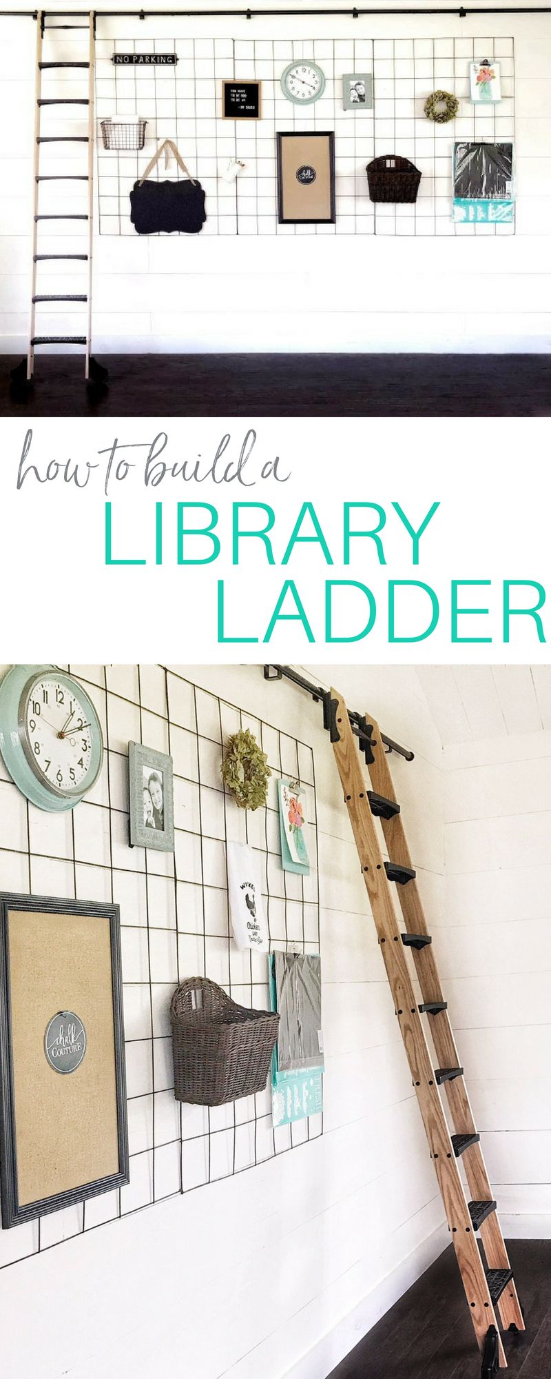 How to build a library ladder step by step indepth video