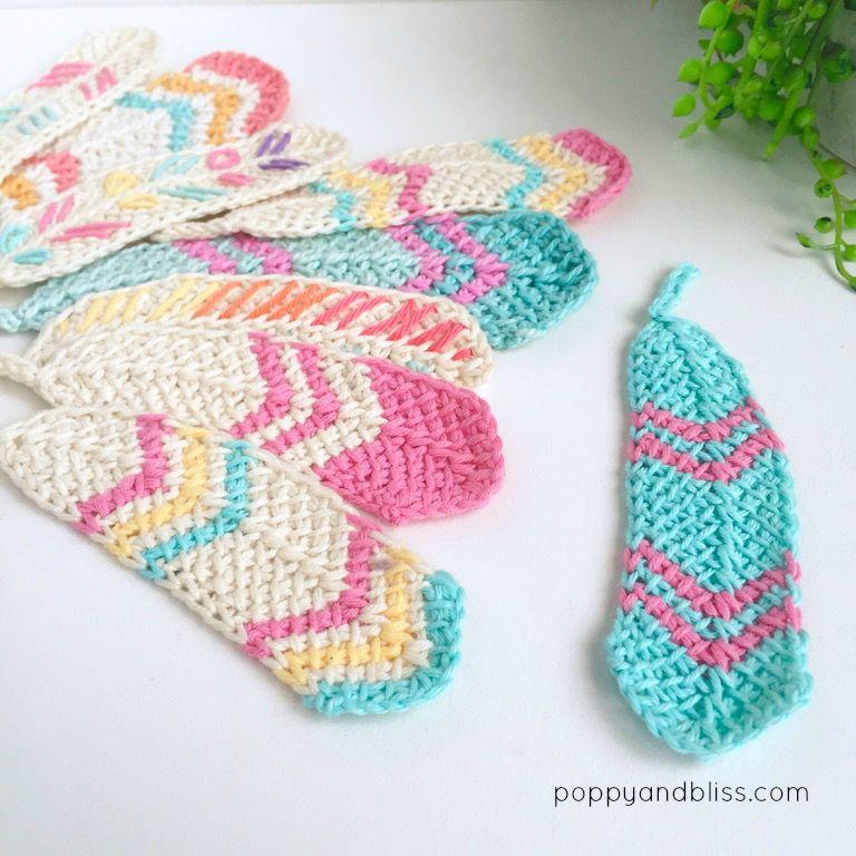 Tunisian crochet feathers free pattern | Crocheted Tunsun Feathers ...