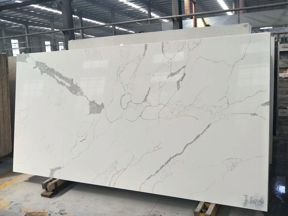 New Design Calacatta Quartz Stone Slabs