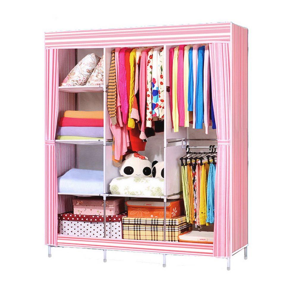 Homdox Portable Bedroom Wardrobe Closet Storage Organizer Clothes