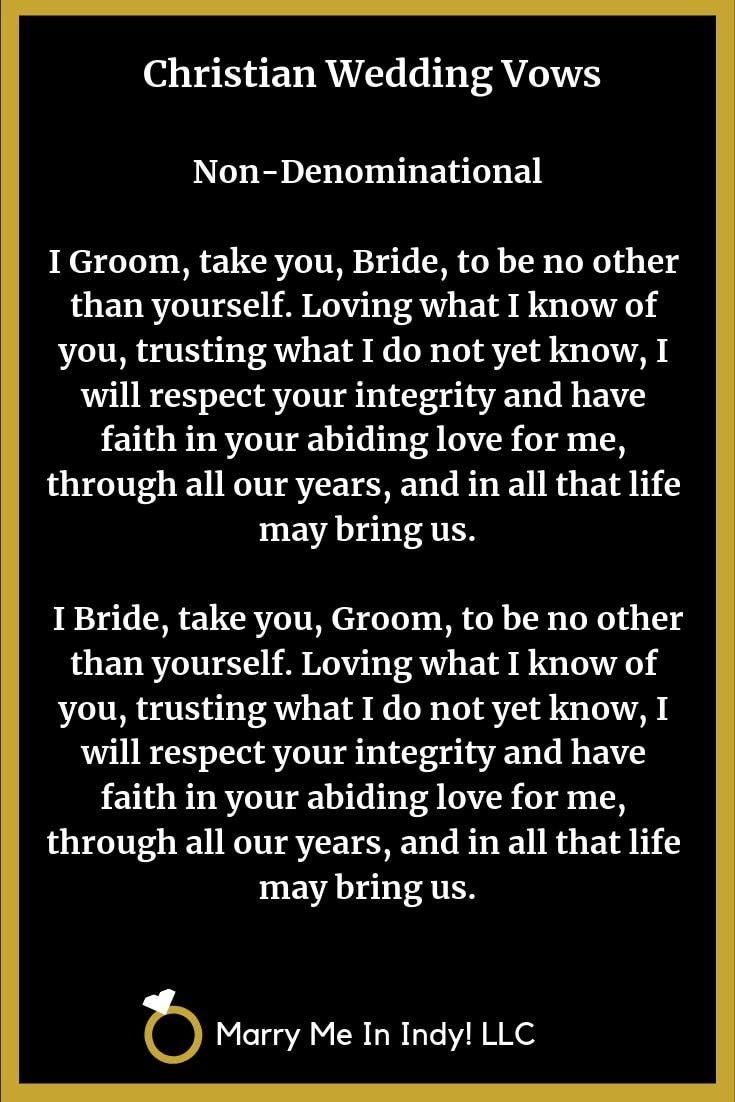 Pin by Marry Me In Indy! LLC on Christian Wedding Vow