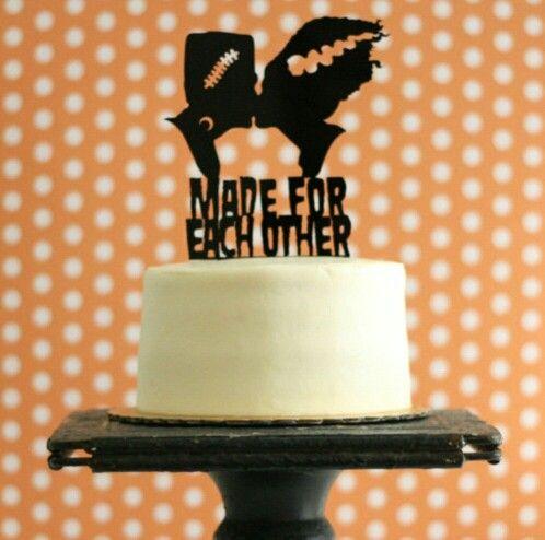 Frankenstein Wedding Cake Topper Wedding Cake Pinterest - cake decorations for halloween