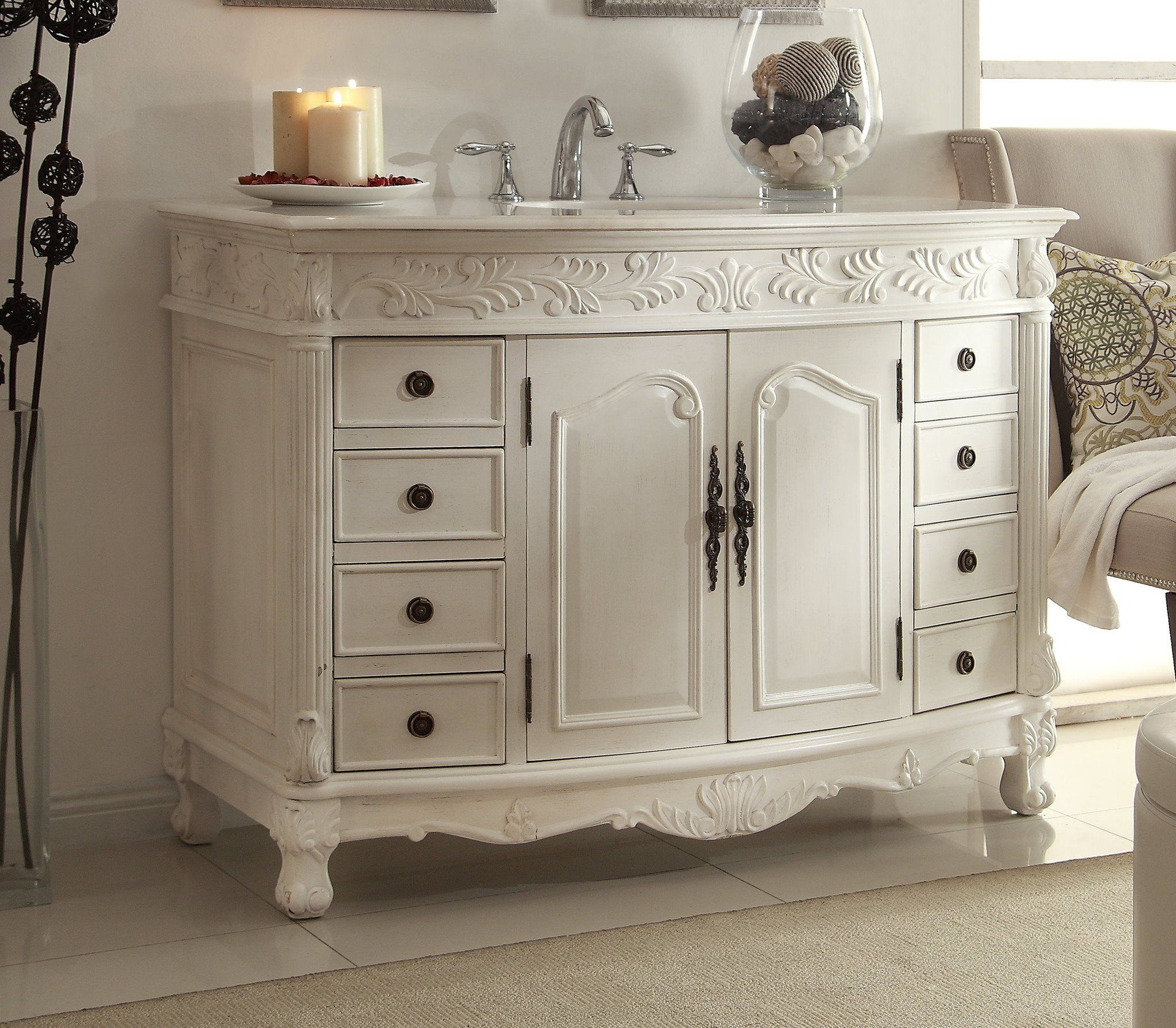 Chans Furniture 48 Benton Collection Classic Style Antique
