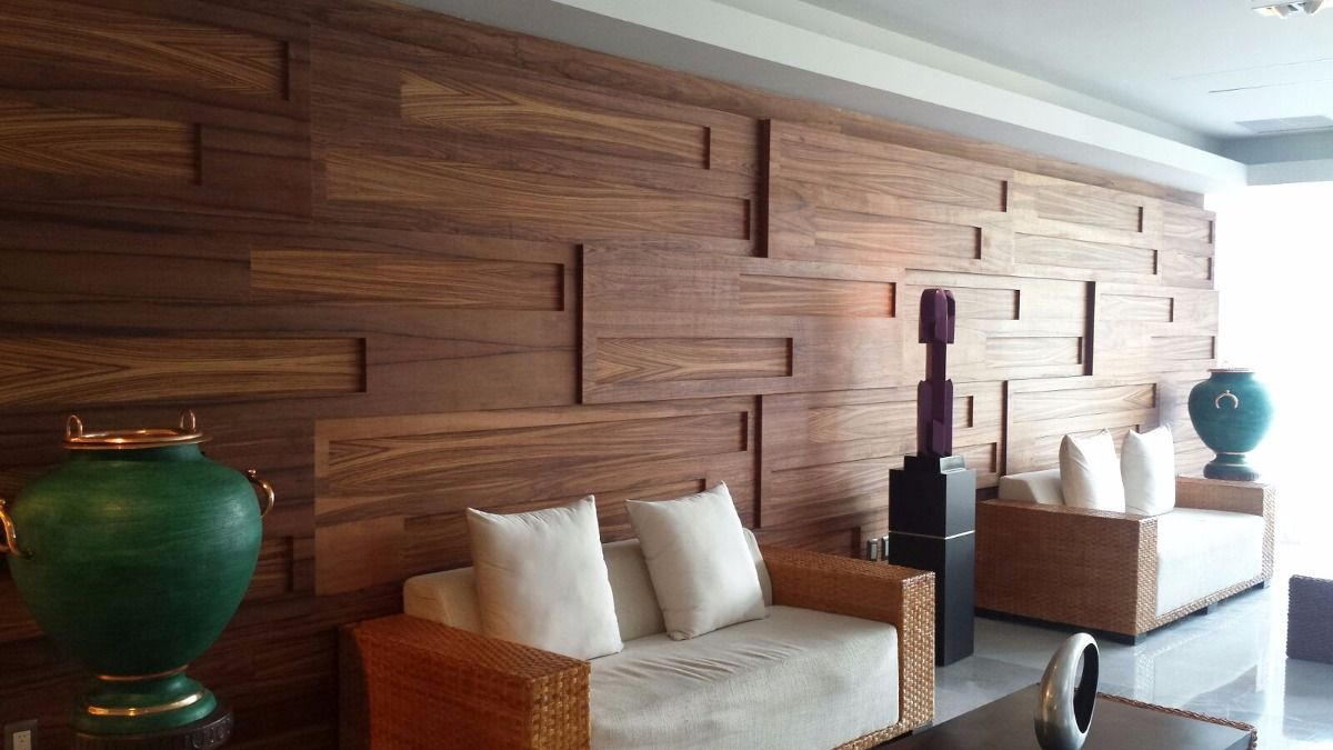 Revestimiento madera muros recubrimiento fachada 1 500 for Revestimiento de muros