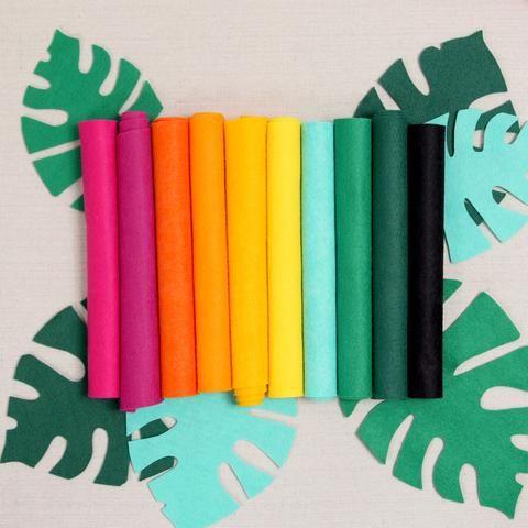 Tropical Palette Felt Sheets Vibrant Colors