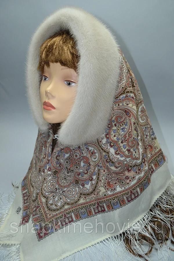 модные зимние платки на голову