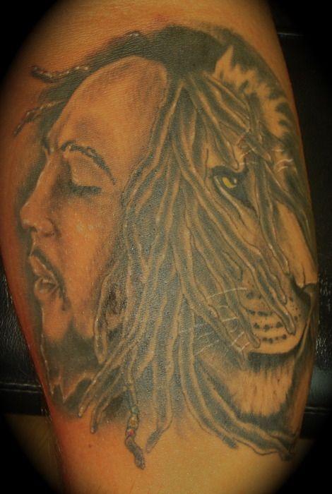 bob marley lion tattoo tattoos piercings pinterest bob marley lion tattoo and tatting. Black Bedroom Furniture Sets. Home Design Ideas