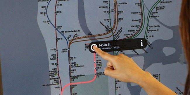 Subway Map New York Directions.Nyc Rolling Out Touchscreen Displays In Subways For Directions