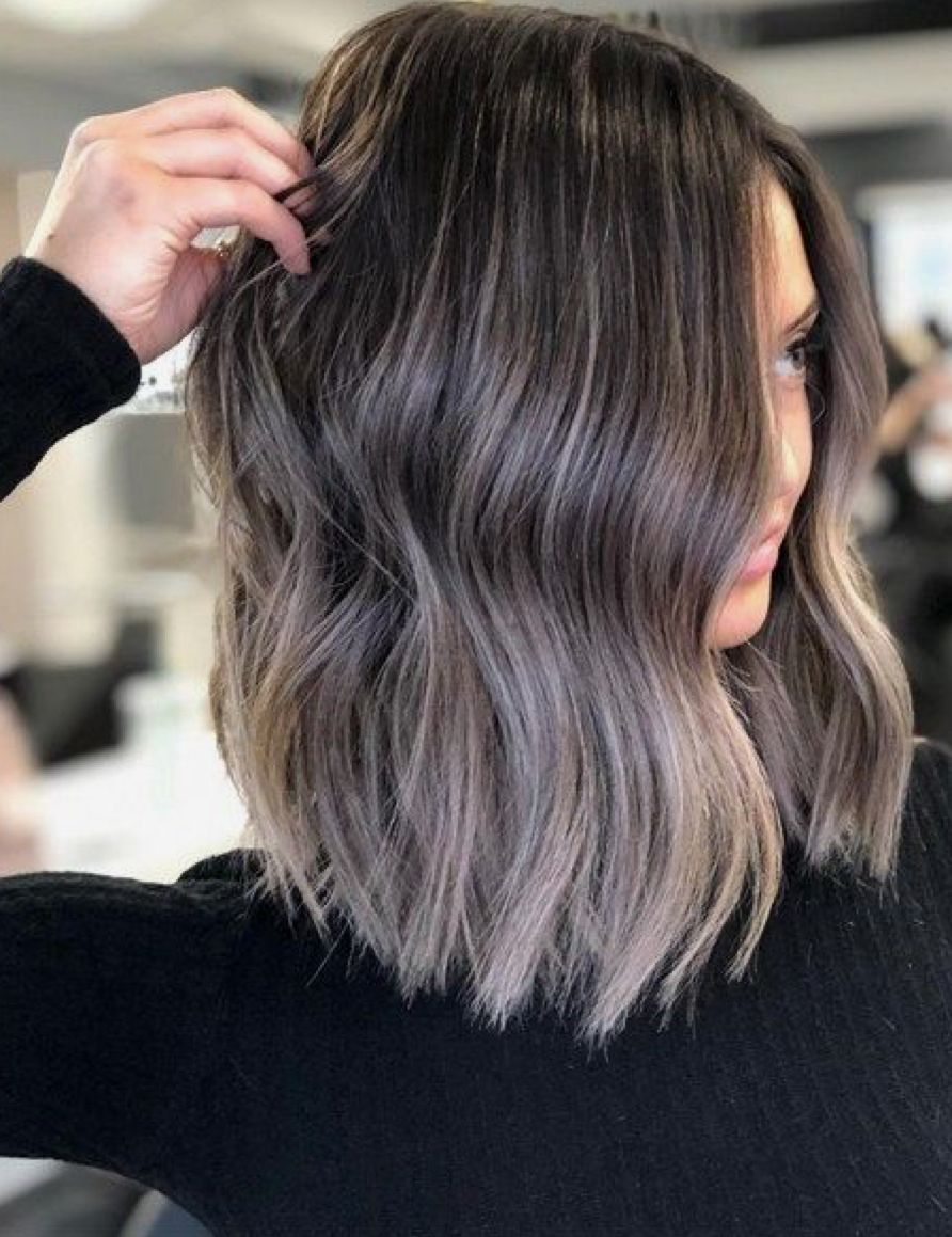 Brunette Cool Tone Brunette Hair Color Short Hair Balayage Hair Highlights