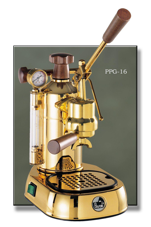 La Pavoni 16-Cup Copper//Brass Professional Espresso Machine