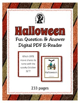 Halloween Question & Answer Easy to read PDF ebook