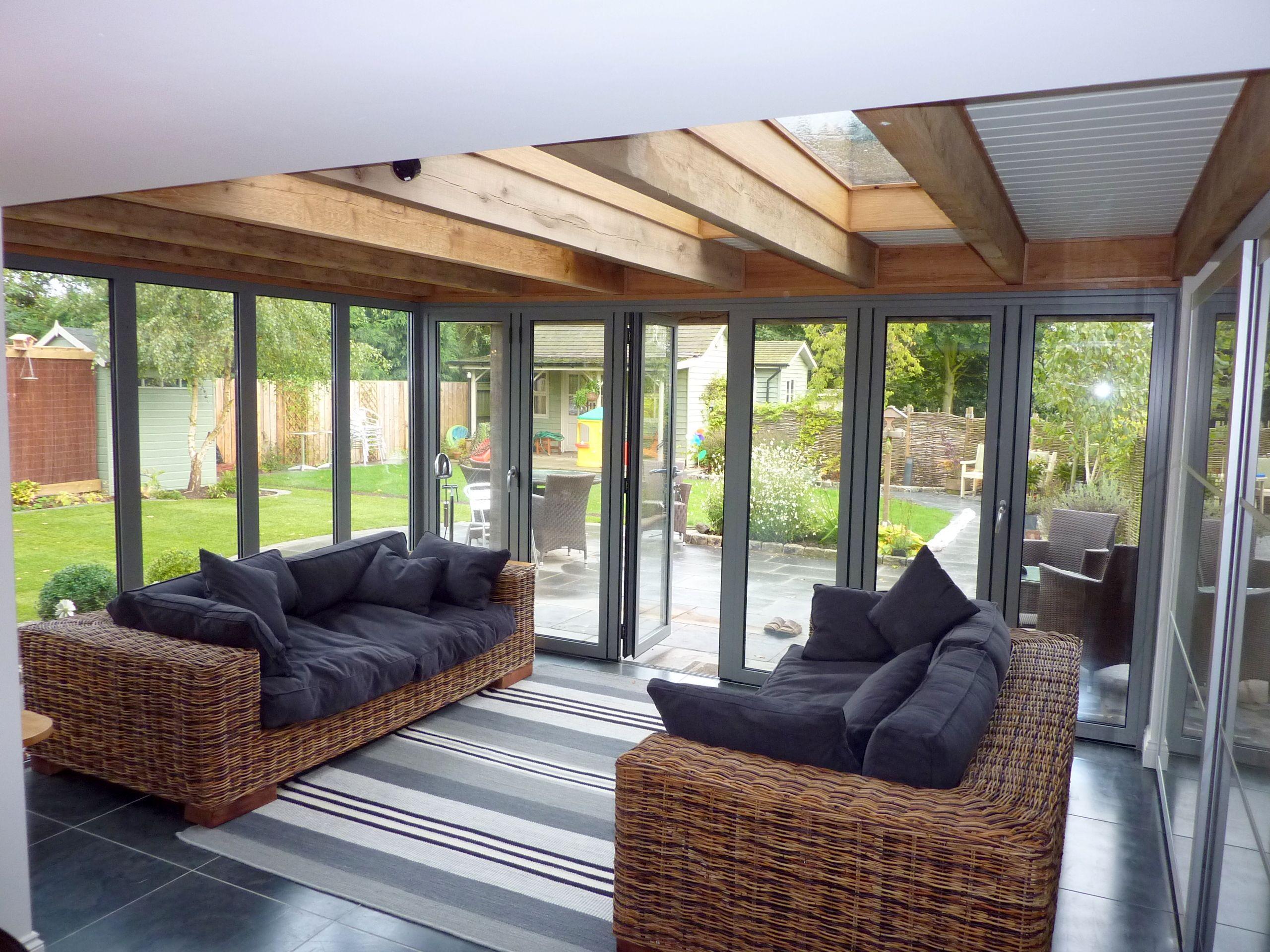 Elegant Modern Oak Frame Sun Room Extension. Yorkshire BuildingExtension GoogleFlat  RoofSun ...