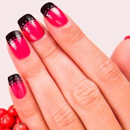 20 Amazing Pink And Black Nail Design Ideas Black Nails And Nail Nail