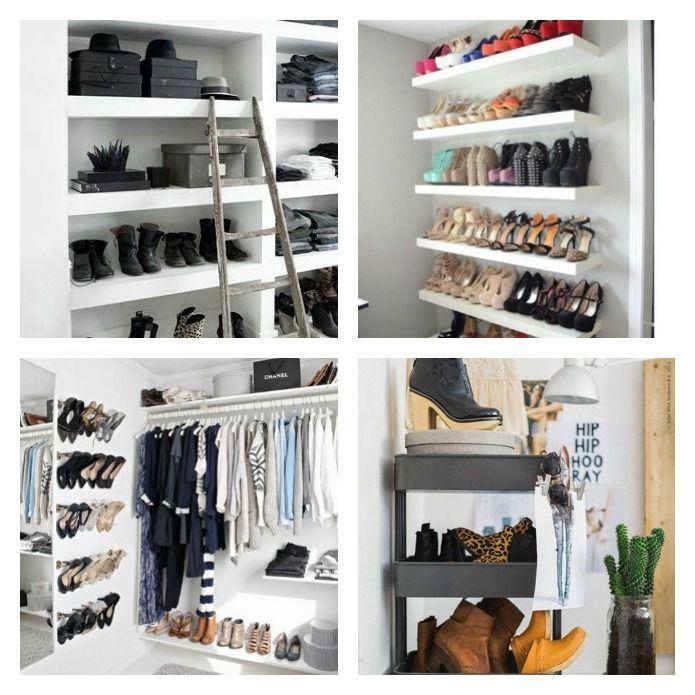 20 Formas De Ordenar Los Zapatos Como Organizar Zapatos Organizador De Zapatos Y Organizar