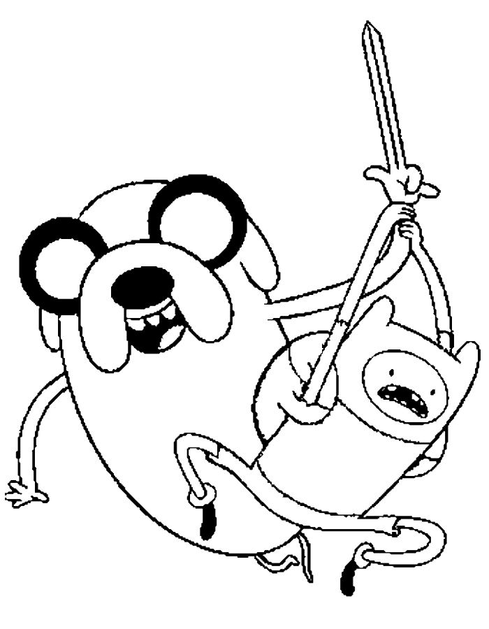 adventure time finn and jake attacked coloring pages | projects to ... - Adventure Time Coloring Pages Jake